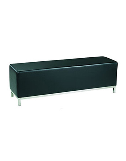 Black ottoman bench